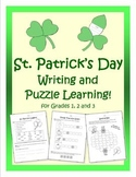 St. Patrick's Day Writing and Puzzle Learning! for grades