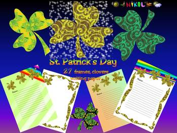 St. Patrick's Day - - Writing paper - Frames - Animated pictures