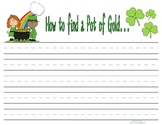 St. Patrick's Day Writing template