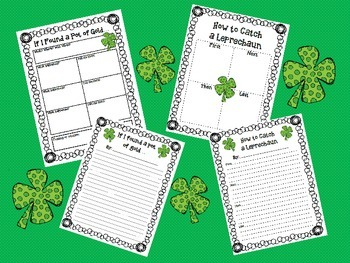 St. Patrick's Day Writing with Graphic Organizers