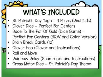 St. Patrick's Day Yoga, Brain Breaks, and Games
