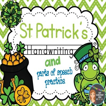 St. Patrick's Day Zaner-Bloser Handwriting & Parts of Speech Practice
