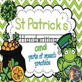 St. Patrick's Day Zaner-Bloser Handwriting & Parts of Spee