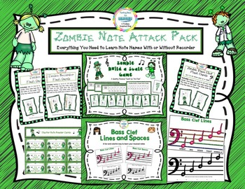 Zombie Music Note Attack Pack Bundle