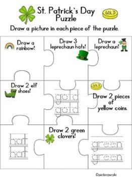 St. Patrick's Day activities Pre-k and kindergarten Language Arts