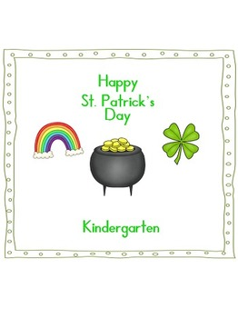 St. Patrick's Day activities Pre-k and kindergarten Language Arts