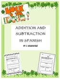 St. Patricks Day addition and subtraction/ Spanish