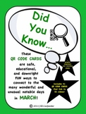 St. Patrick's Day and More! - Did You Know...QR Code Cards for March