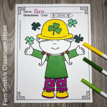 St. Patrick's Day Coloring Pages and Spring Coloring Pages Bundle