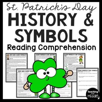 St. Patrick's Day Reading Comprehension Worksheet,history, symbols, celebrations