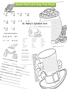 St. Patrick's Day (as well as Educational) Packet