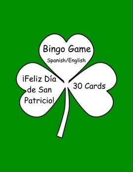 St. Patrick's Day bingo- Spanish/English