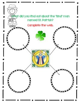 St. Patrick's Day by Gail Gibbons, Book Journal, Close Reading Format