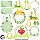 St Patricks Day clipart, Irish clipart, Shamrocks Clipart, Frames,  AMB-2161