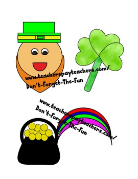 St. Patrick's Day clipart, Leprechaun, Clover, Pot of Gold