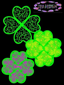 Clovers - St. Patrick's Day - Clip Art-  Personal or Commercial Use