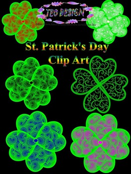 Clovers - St. Patrick's Day - Clip Art-  Personal or Comme