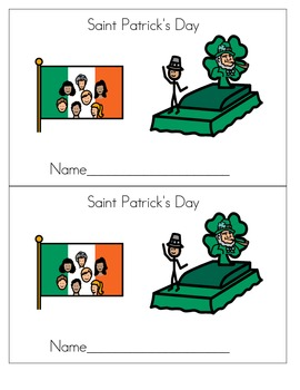 St. Patrick's Day coloring book (half page)