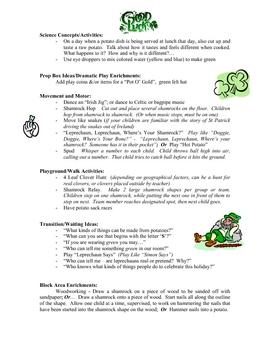 St Patricks Day curriculum ideas