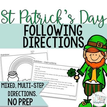St. Patrick's Day Following Directions Coloring Pack. NO PREP