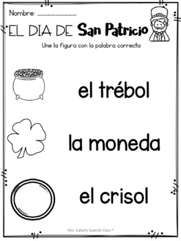 St Patricks Day in Spanish - Freebie
