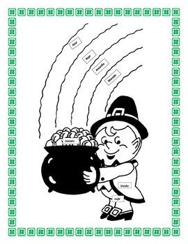 "Spanish Physical Characteristics Unit- St. Patrick's Day Theme-"" Yo Soy"" -"