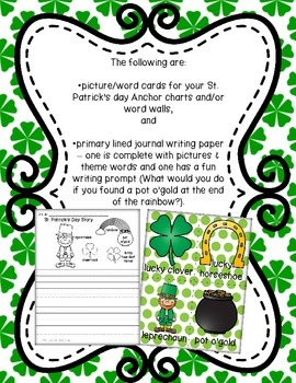 St. Patrick's Day in a Snap - Kindergarten Style - Covers Math and Literacy!