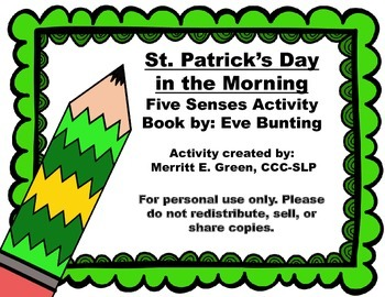 St. Patrick's Day in the Morning-5 Senses Activity {FREEBIE}