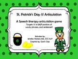 St. Patrick's Day /l/ Articulation Game