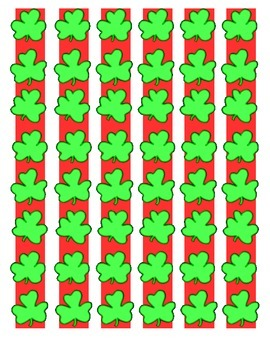 St Patrick's Day March measurement center math counting numbers ESL hands on