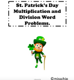 St. Patrick's Day multiplication and division word problems