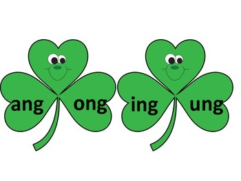 St. Patrick's Day -nk and -ng Word Family Sorting Activities Literacy Centers