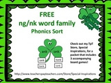 St. Patrick's Day -nk and -ng Word Family Sorting Activiti