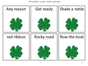 St. Patrick's Day /r/ Articulation Game