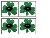 St Patrick's Day rhyming clovers ESL hands on activity center COMMON CORE March