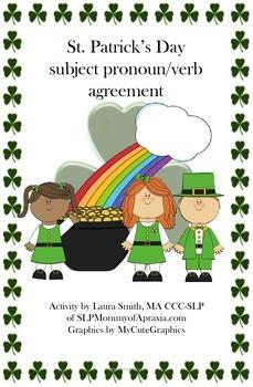 St. Patrick's Day subject pronoun/verb agreement