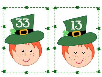 St. Patrick's Day tens and ones match