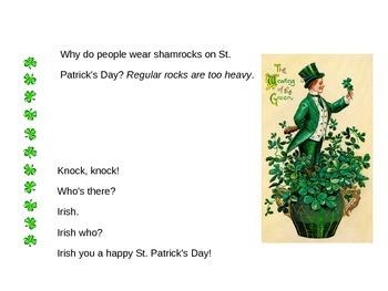 St. Patricks Day theme PowerPoint resource