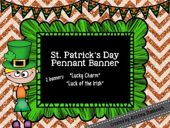 St. Patrick's Day Pennant Banner
