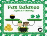 St. Patrick's Day themed Pan Balance Algebraic Equations