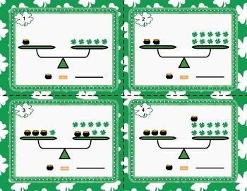 St. Patrick's Day themed Pan Balance Algebraic Equations