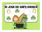Le jour de Saint Patrick - St. Patrick's Day vocabulary cards