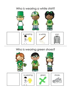 "St. Patrick's Day ""wh"" Question Interactive Books"