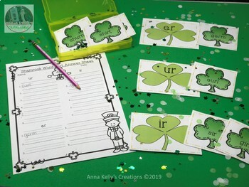 St. Patrick's Day word sort, (ir, er, ur)