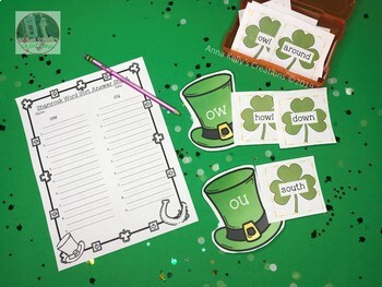 St. Patrick's Day word sort, (ow, ou)