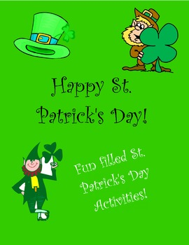 St Patrick's Day worksheets and center activities