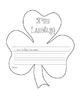 St. Patricks Day writing - I'm Lucky