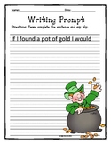 St. Patrick's Day writing prompt- If I found a pot of gold...