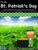 St. Patricks Day Reading Activities Jamie O'Rourke and Clever Tom