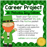 St. Patrick's Day/Leprechaun Career Project & Activities (job search skills)